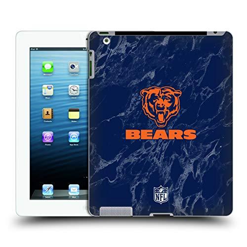 Head Case Designs Offizielle NFL Marmor Farbig 2018/19 Chicago Bears Ruckseite Hülle für iPad 3 / iPad 4