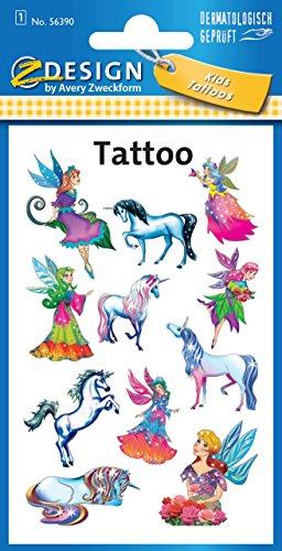 avery-zweckform-56390-kinder-tattoos-elfen-temporare-transferfolie-dermatologisch-getestet-11-aufkle