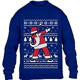 Kids Weihnachten Geschenk Dab vom Weihnachtsmann Kinder Pullover Sweatshirt S 122/128 Blau