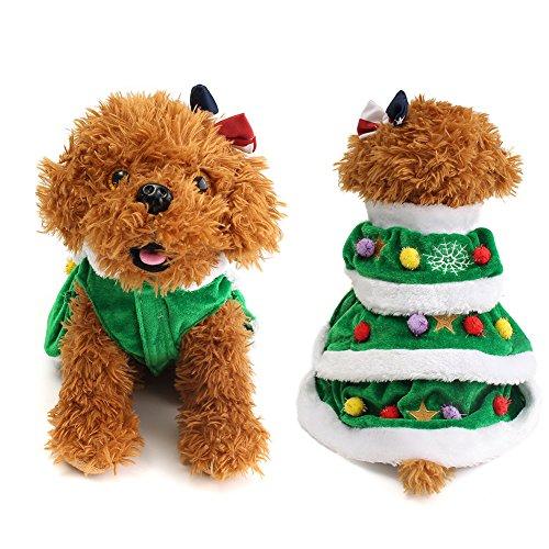 Kostüm Super Süße Grün Hundekleidung Katzen Kleider Rock dog christmas cosplay dress für kleine Hunde & Katzen (Weihnachtsbaum Kostüm Kleid)