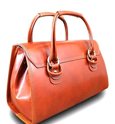Superflybags , Damen Schultertasche L cognac