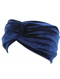 Butterme Cruz de Terciopelo para Mujer Anudada Turbante Diadema Elástica Hairband Headwear Accesorios para El Cabello