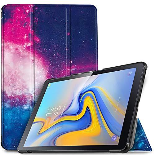 IVSO Hülle für Samsung Galaxy Tab A 10.5 SM-T590/T595, Slim Schutzhülle mit Auto Aufwachen/Schlaf Funktion Perfekt Geeignet für Samsung Galaxy Tab A SM-T590/SM-T595 10.5 Zoll 2018, Navy Night Sky