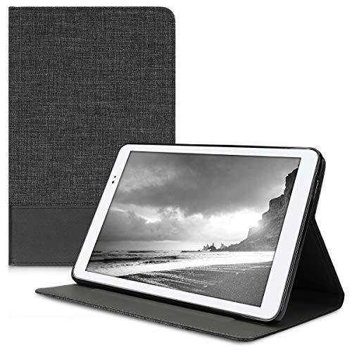 kwmobile Funda para Huawei MediaPad T1 10 - Carcasa de [Tela] para Tablet con [Soporte] - Cover [Antracita/Negro] de Tab