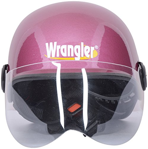 Wrangler WRR_019 Beetle Open Face Helmet (Pink, L)  available at amazon for Rs.452