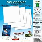 Aquapapier 20 x 20 cm 30 Blatt: Papier für Bücher: Wasser-Spaß mit Origami Schiffen