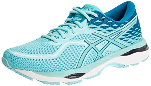 ASICS Gel-Cumulus 19, Scarpe Running Donna, Blu (Blue Purple/Black/Flash Coral), 40 EU