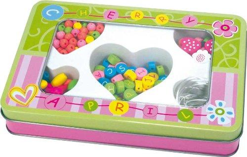 1 Boîte avec set de perles alphabet (boîte verte) + 3 ans