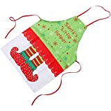 Chinget Adult Christmas Apron Home Kitchen Xmas Cooking Party Aprons Gift Christmas Sock Pattern