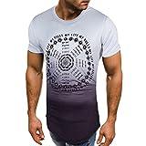 T-Shirt Décontracté Chemise Slim Fit O Neck Manches Courtes Muscle Tops pour Malloom Homme