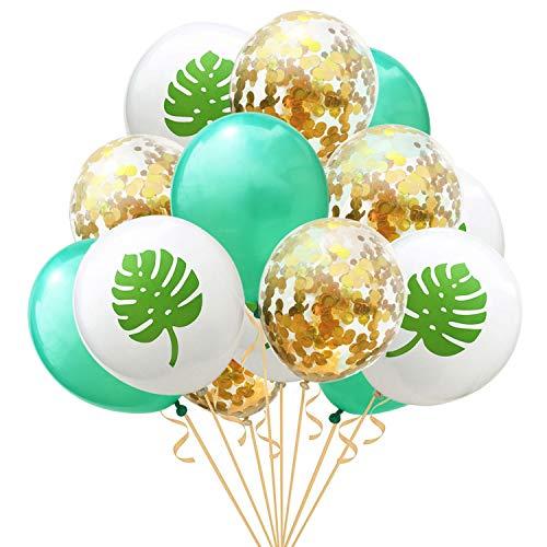 15 stücke Bunte Latex Ballon Konfetti Luftballons für Geburtstag Hochzeit Hawaii Luau Thema Partydekorationen Liefert Stil D