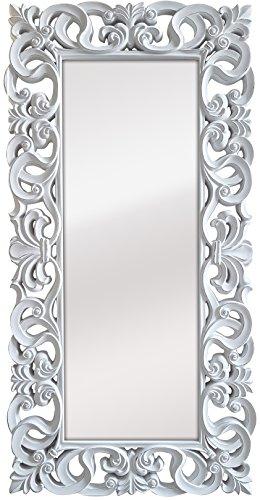 -Espejo Fabricado en España y Decorado a Mano- Medida Exterior 88x178 cm, Medida de Espejo 48x138 cm...