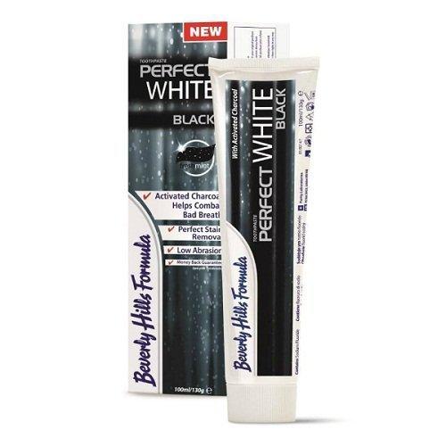 1 x Beverly Hills Formula PERFECT WHITE BLACK / Aktivkohle 100 ml - Zahncreme mit deutscher Beschreibung - Zahnpasta für weisse Zähne - Zahn-Aufhellung - Bleaching