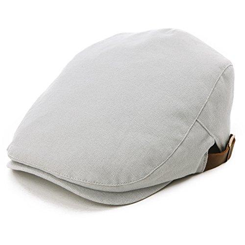 SIGGI Flatcaps Schirmmütze Schiebermütze Herren Sommer Hellgrau (T-shirts Irish Glück Herren)