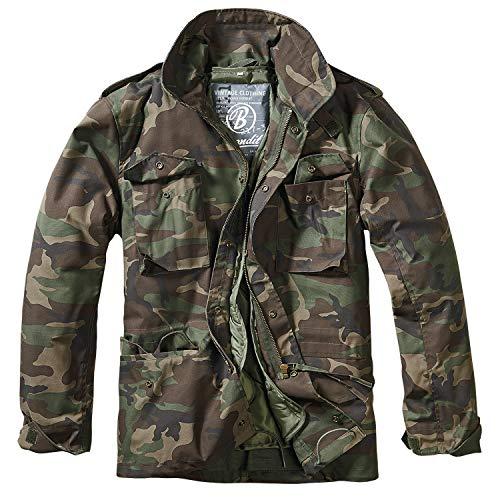 Brandit Herren M-65 Feldjacke Classic Jacke, Mehrfarbig (Woodland 10), - Klassische Herren Kostüm