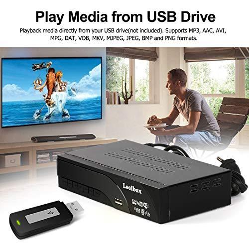 51CbaLBauuL - Decodificador TDT Terrestre - Leelbox Digital TV HD Euroconector Sintonizador Receptor DVB T2 Tuner Full HD / HD Ready / 1080P / H.264 / MPEG / Dolby / Multimedia (DVB T2, PVR, SCART)
