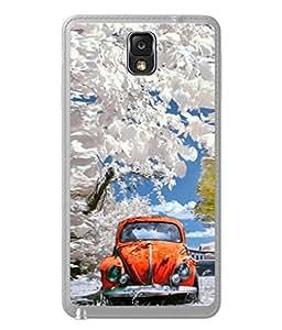 PrintVisa Designer Back Case Cover for Samsung Galaxy Note 3 :: Samsung Galaxy Note III :: Samsung Galaxy Note 3 N9002 :: Samsung Galaxy Note 3 N9000 N9005 (Painted Animated Design Flowers Nature)
