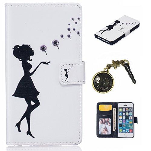 PU Silikon Schutzhülle Handyhülle Painted pc case cover hülle Handy-Fall-Haut Shell Abdeckungen für Smartphone Apple iPhone 5 5S SE +Staubstecker (2AB) 3