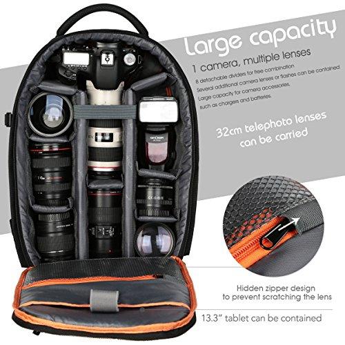 """Imagen de k&f concept   fotografía para cámara réflex y ordenador portátil 13"""", l 44cm x28cmx14cm  alternativa"""
