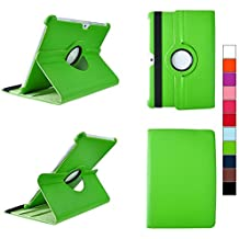 COOVY® SMART FUNDA 360º GRADOS ROTACIÓN PARA SAMSUNG GALAXY TAB 10.1 N GT-P7500 GT-P7501 GT-P7510 GT-P7511, TAB 2 10.1 GT-P5100 GT-P5110 COVER CASE PROTECTORA SOPORTE color verde