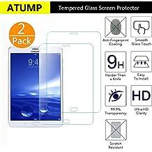 Cristal Templado Protector de Pantalla Samsung Galaxy Tab S2 8, Atump 2 piezas Vidrio Templado Premium Para Galaxy Tab S2 SM-T710 SM-T715 9H Dureza Alta Definicion 0.25mmTransparente