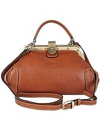 3c420a3b75ef Gianni Conti Fine Italian Small Leather Tan Gladstone Grab Shoulder Bag  913317