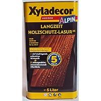 Xyladecor Alpin Langzeit Holzschutzlasur, Mittelschichtlasur, Farbton Kastanie / 5 Liter