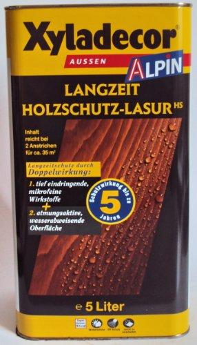 Preisvergleich Produktbild Xyladecor Alpin Langzeit Holzschutzlasur, Mittelschichtlasur, Farbton Kastanie / 5 Liter