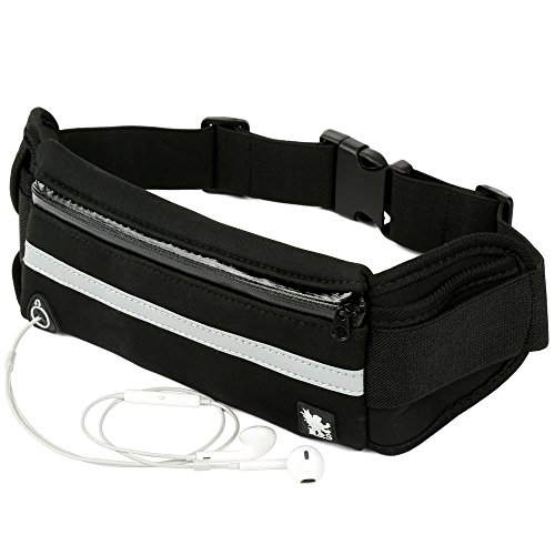 H&S Running Belt Runner Waist Pack Band Fanny Bag Travel Money Belt Waistpack for Hiking Men Women fit Phone iPhone 5 5s 6 6s 7 plus Samsung Galaxy S7 S5 S6 Edge Plus