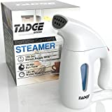 Tadge Goods Travel Steamer For Clothes Wrinkle Remover - 180ml Portable Hand Held Vapor Iron Garment Steamer - Press, Sterilize, Clean Fabric Tops, Shirts, Pants, Suits, Curtains - Fast Heat Up
