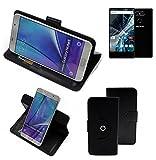 K-S-Trade® Case Schutz Hülle für Archos Sense 55 S Handyhülle Flipcase Smartphone Cover Handy Schutz Tasche Bookstyle Walletcase schwarz (1x)