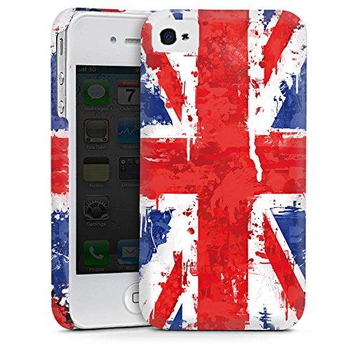 Apple iPhone 4 Housse Étui Silicone Coque Protection Union Jack Angleterre Drapeau Cas Premium mat