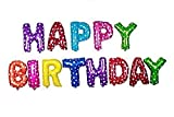 #7: Shakuntlay Happy Birthday Letter Foil Balloon - Multi Color, birthday balloons foil balloons party supplies kids adults birthday party supplies happy birthday decorations decor for parties birthday party décor (13 Pcs)