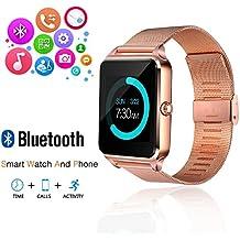 JoyGeek - Reloj inteligente con Bluetooth, teléfono con ranura para tarjeta SIM / pantalla táctil / cámara, para iPhone 6S, 6 Plus, 5S, 5C, 4, Samsung Galaxy 6, 5, 4, Note 4, 3, 2, Sony, HTC, LG y Huawei (Android) (Norado)