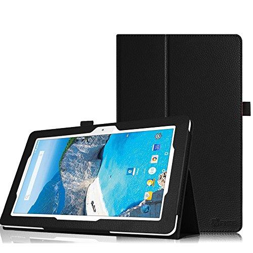 Fintie Odys Ieos Quad 10 Pro X610120 Hülle Case - Slim Fit Folio Premium Kunstleder Schutzhülle Tasche Etui Cover mit Ständerfunktion für Odys Ieos Quad 10 Pro 25,7 cm (10,1 Zoll) Tablet-PC, Schwarz