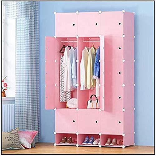 LMCLJJ Kommoden für Schlafzimmer Tragbarer Kleiderschrank Kleiderschrank Schlafzimmer Schrank Kommode Cube Storage Organizer (Aufbewahrung Cube Kommode)