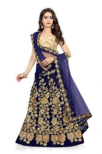 ETHNIC VILA Sripal Velvet Lehenga Choli for Women (sreee4322,Blue,free Size)