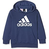 adidas Yb Logo Hood Sudadera, Niños, Azul/Blanco (Añil), 110 (4/5 años)
