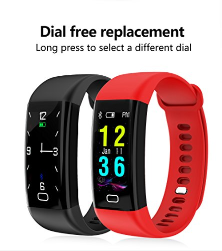 Colour Smart Fitness Band by AheadStrong™| for Cycling, Swimming, Walking Etc., with Most Accurate Heart Rate, Blood Pressure and Sleep Monitoring, Sedentary Reminder Compatible with Apple iOS and Android with one FREE STRAP