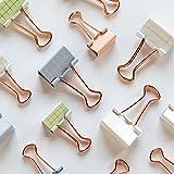 DAMENGXIANG 20 Stk/Set Einfache Eckige Klammer Metall Clip-Ordner Büromaterial