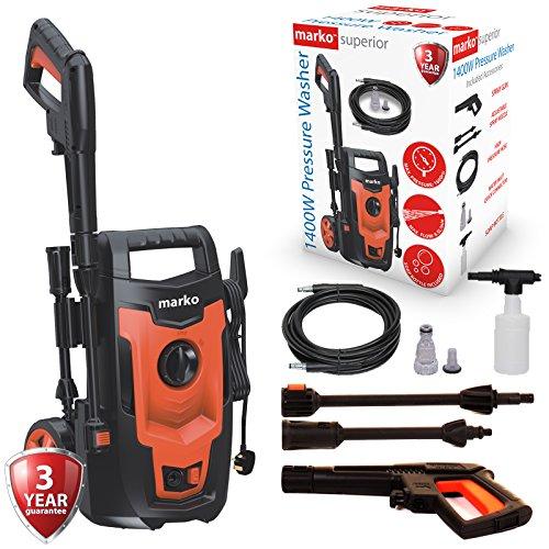 Marko Pressure Washer Power Jet Wash Electric Garden Patio Home Car Outdoor Pump 1400W
