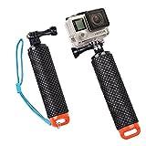 O RLY schwimmender Handgriff Floating Hand Grip Mount für für GoPro Hero 2 3 4 5 6 SJCAM cappark/Akaso/Apeman Sport Action Kamera-Halterung Zubehör- Orange