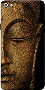 Snoogg Buddha Actual Designer Protective Back Case Cover For Micromax Canvas Silver 5 Q450