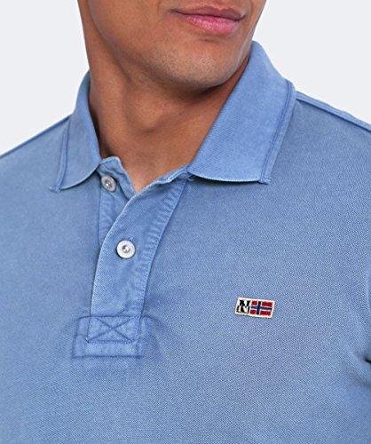 Napapijri Herren Taly neue Polo-shirt Leuchtend Rot Blau