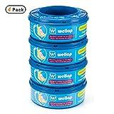 Ricarica mangiapannolini compatibile per Mangiapannolini Sangenic Tommee Tippee & Tec a 7 strati con trattamento antibatterico & tecnologia antiodore EVOH (4 ricacache)