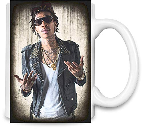 Wiz Khalifa mit Sonnenbrille with Sunglasses Unique Coffee Mug | 11Oz Ceramic Cup| The Best Way to Surprise Everyone On Your Special Day| Custom Mugs by
