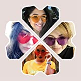 Oaonnea 90er Einteilige Cateye Sonnenbrille Damen Randlos UV Candy Colored Glasses (6 pack) Test