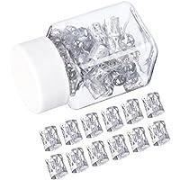 50 Piezas Dreadlocks Beads Anillos de Rastas de Aluminio Ajustables Decoración de Pelo Trenzado (Plateado)