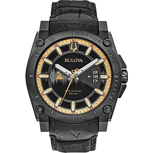 Bulova Grammy Edition Herren-Armbanduhr 46mm Schwarz Quarz 98B293