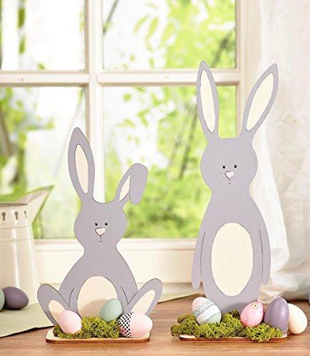 Firstlaser VBS Stehfiguren Osterhasen Bunny und Funny 2er-Set Holz basteln DIY Malen